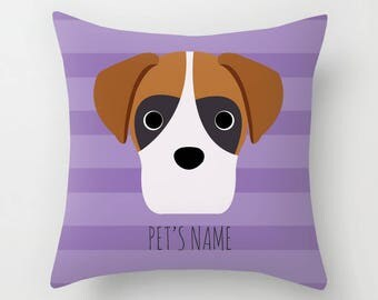 Boxer Pillow, Boxer Cushion, Decorative Boxer Cushion - Dog Pillow, Dog Gift, Custom Dog Name Pillow