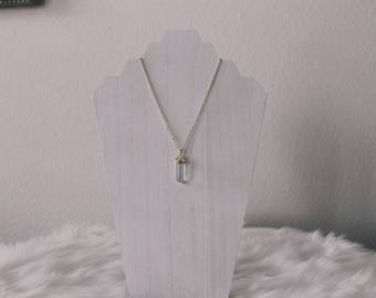 White Quartz Healing Stone Necklace