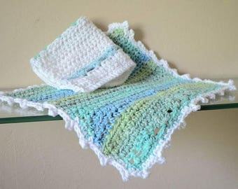 Seaside Crochet Washcloths Set
