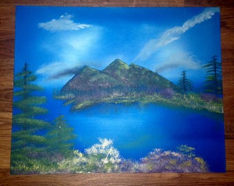 Stormy Mountains oil painting