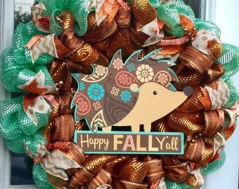 Happy Fall Hedgehog