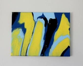 Original Fluid Acrylic Painting: Cyberspace