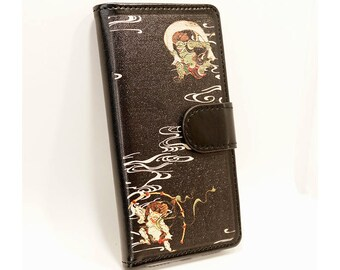 Smart phone case Universal type Huujin Raijin design  phone wallet for iPhone7/iPhone6s/6/SE Within 4.7 inches of size