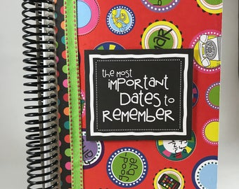 Important Dates Monthly Planner
