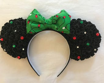 Christmas Lights Minnie Ears