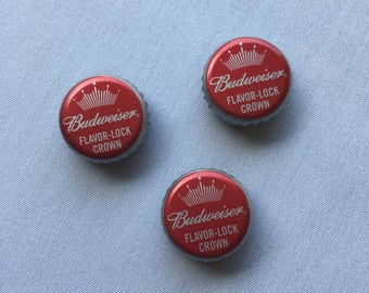 Set of 3 Budweiser Bottle Cap Magnets