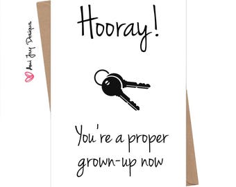 Funny New House Card / Cheeky / New Home / Grown-Up / Moving / Humour Greeting Card