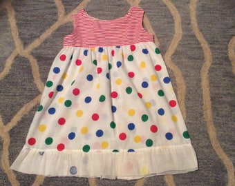 Polka dot Sun dress for girls, NEW, size 4 to 5