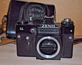 Vintage Zenit 11 35mm SLR Film Camera Body Only, USSR 83111859