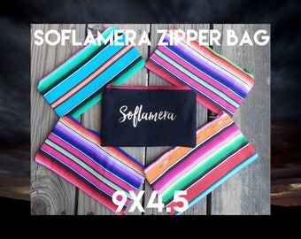 "Black ""Soflamera"" Zipper Pouch or Pencil Bag"
