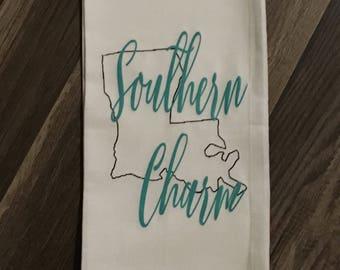 Southern Charm Louisiana kitchen towel