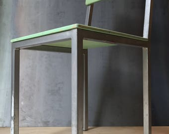 Custom Fabricated Modern Contemporary Dining Garden Desk Chair Furniture Steel Wood Welded Painted Raw Industrial