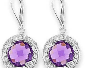 Silver Earrings With Cubic Zirconia (ez626pr)
