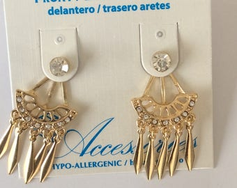 Hypo Allergenic Gold dangle Studs