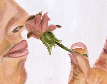 Smell The Roses - Original Oil Painting Prints