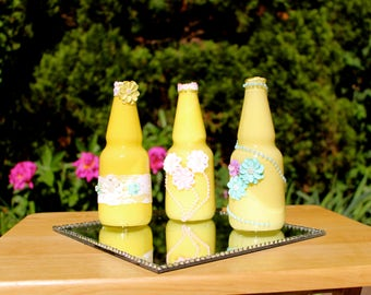 Canary Yellow Bottle Creations