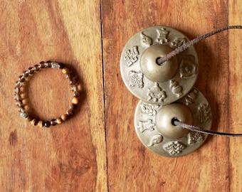 Tiger eye and smoky quartz YOGA bracelet