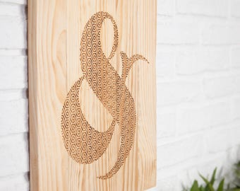 Recycled wood - Ampersand - poster