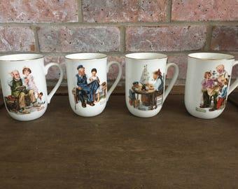 SALE* Vintage Norman Rockwell Mugs