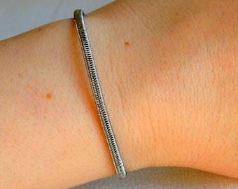 Sterling silver wire bracelet, minimalist bracelet, minimalist silver bracelet, wire jewelry, silver wire bracelet