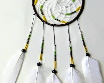 Simple Dream Catcher. Native American decor. Indian American wall decor. White dreamcatcher.