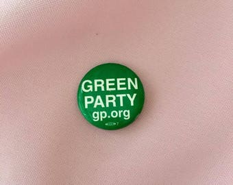 "green party 1.25"" pin"