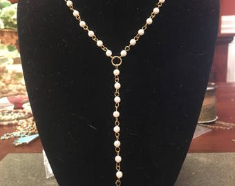 Pearl Spike Lariat
