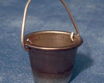 Metal Bucket for Fairy Gardens and Dolls Houses