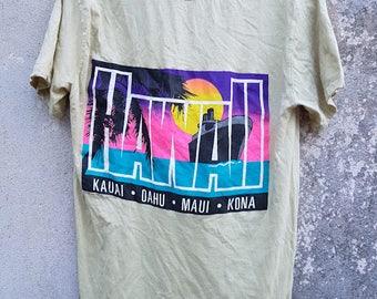Vintage Calvin Klein Hawaii Neon Tshirt