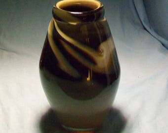 World Famous Molly Stone Art Glass Vase