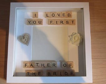 Scrabble Art Personalised and Handcrafted - Wedding Gift Ideas