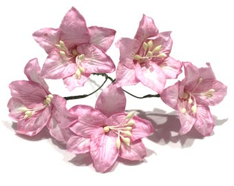 Pink Mulberry Paper Lillies Lil010