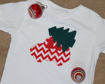 Red Chevron Car with Christmas Tree - Boy's 3T Shirt
