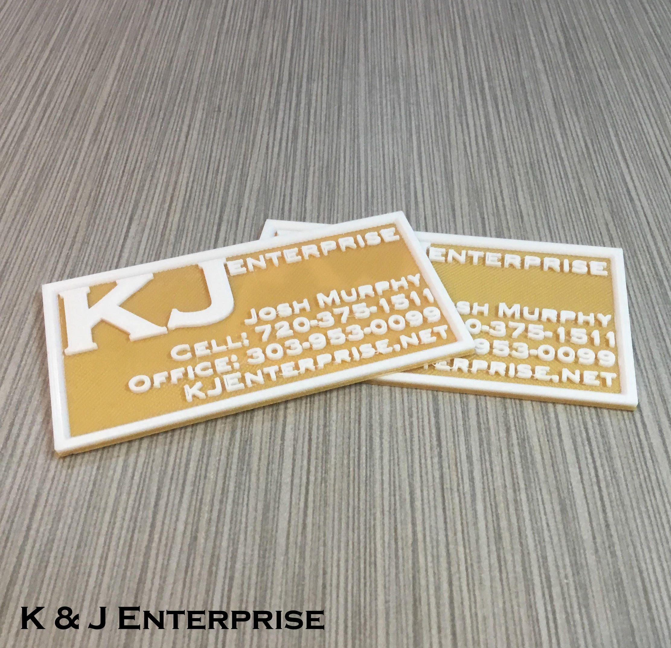 Business Cards, Custom 3D Printed Plastic