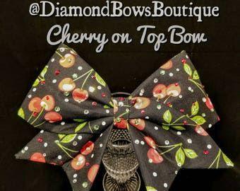 Cherry on Top Cheer Bow