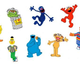 Sesame Street Cupcake toppers Sesame Street Birthday Party Elmos Party Cookie Monster Ernie Sesame Street