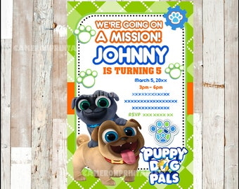 Puppy Dog Pals Invitation, Printable Puppy Dog Pals party invitation, Puppy Dog Pals Birthday invitation