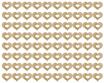 Wooden Hollow Hearts - Love - Premium Decorations - Use For Weddings, Card Embellishments, Design.