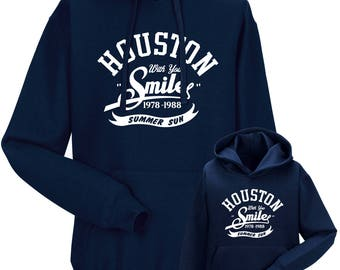 "Partnerlook Hoody father child ""Houston Smile"""