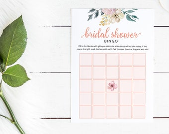 Floral Bridal Shower Bingo