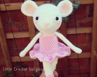 Amigurumi Ballerina mouse - Finished Product