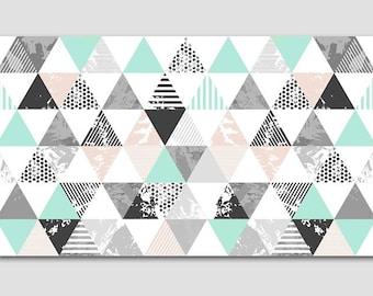 Grey mint ,Wall Art, White and Gray  Print, geometric Sculpture, Minimalist, Ultra-Modern geometric Art Design, badrdesigns