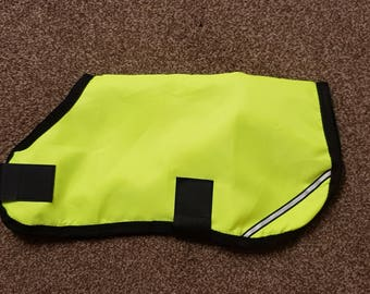 New Hi Viz Showerproof Dog Coat 14: 36 cm