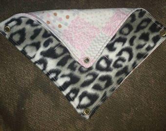 Pink and leopard print hammock
