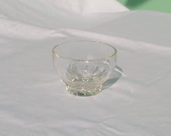 vintage glass dessert cup