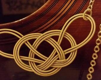 Guitar String Necklace Modified Carrick Bend Mat