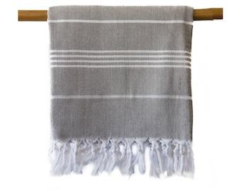 Iris Gray Turkish Towel Peshtemal