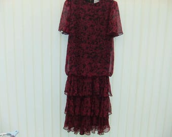Vintage Berkertex 1980,s flapper style dress size 12 lovely condition