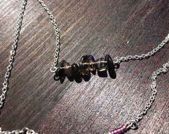 Layered Smoky Quartz Necklace