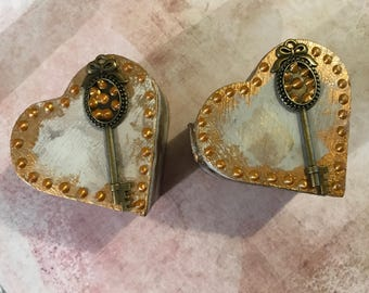 Key Heart Trinket Boxes